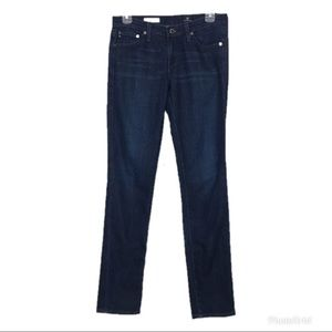 AG The Stilt Cigarette Leg Dark Wash Jeans 27R